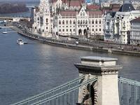 Kilátás a Budavári Palotából, Parlament és Lánchíd