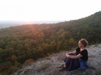 Úton a Csergezán-kilátóhoz